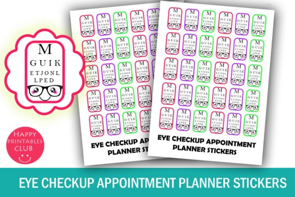 Print on Demand: Eye Checkup Planner Stickers- Optician Graphic Crafts By Happy Printables Club