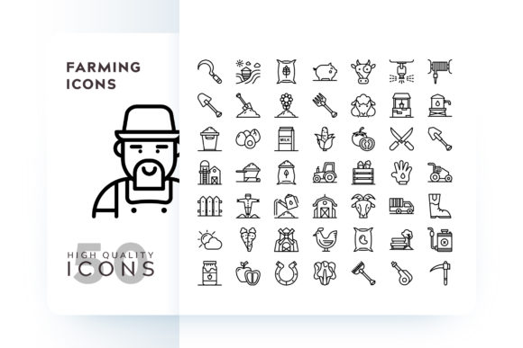 Print on Demand: Farming Icon Graphic Icons By Goodware.Std