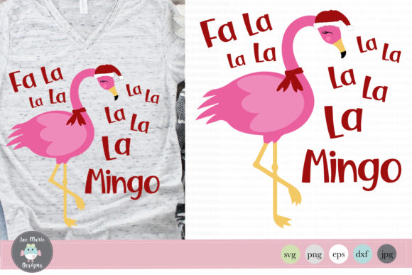 Download Free Fa La Flamingo Christmas Flamingo Graphic By Thejaemarie for Cricut Explore, Silhouette and other cutting machines.