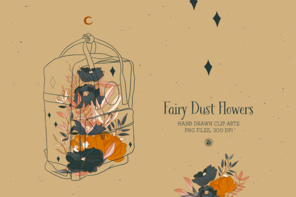Fairy Dust Flowers Graphic Illustrations By webvilla - Image 2