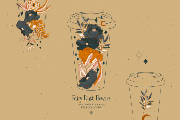 Fairy Dust Flowers Graphic Illustrations By webvilla - Image 4