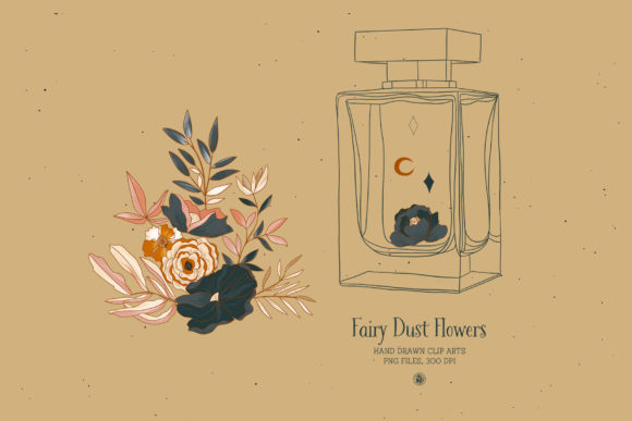 Fairy Dust Flowers Graphic Illustrations By webvilla - Image 5