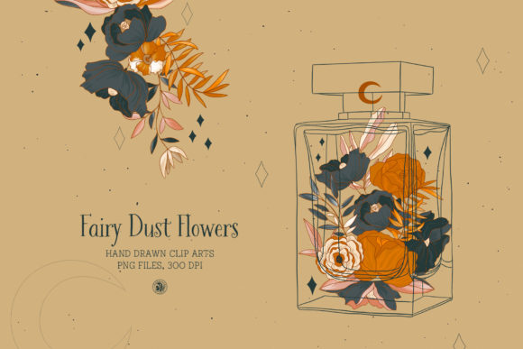 Print on Demand: Fairy Dust Flowers Graphic Illustrations By webvilla