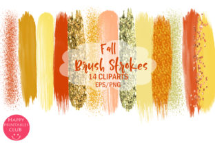 Fall Brush Strokes Clipart Graphic By Happy Printables Club