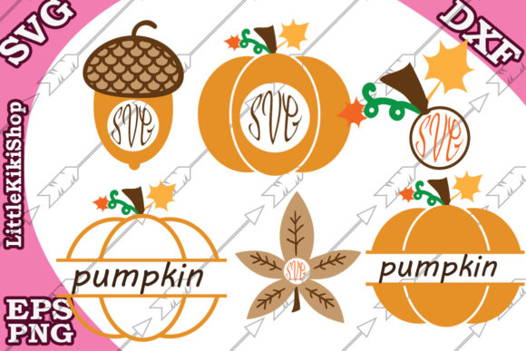 Download Free Fall Monogram Pumpkin Monogram Graphic By Littlekikishop for Cricut Explore, Silhouette and other cutting machines.