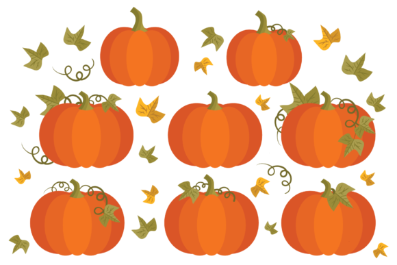 Print on Demand: Fall Pumpkins Clip Art Set Graphic Objects By Running With Foxes - Image 2