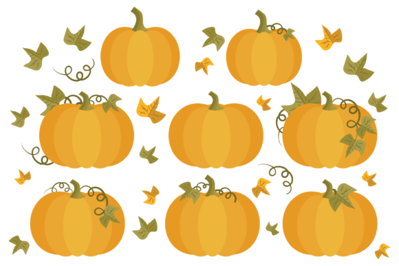 Print on Demand: Fall Pumpkins Clip Art Set Graphic Objects By Running With Foxes - Image 3