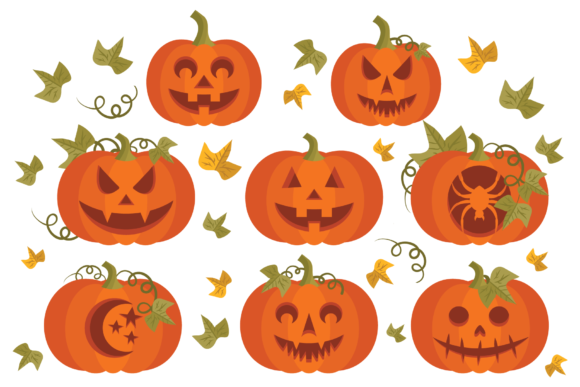 Print on Demand: Fall Pumpkins Clip Art Set Graphic Objects By Running With Foxes - Image 4