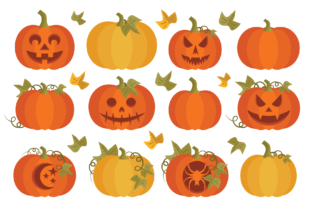 Fall Pumpkins Clip Art Set Graphic By Running With Foxes