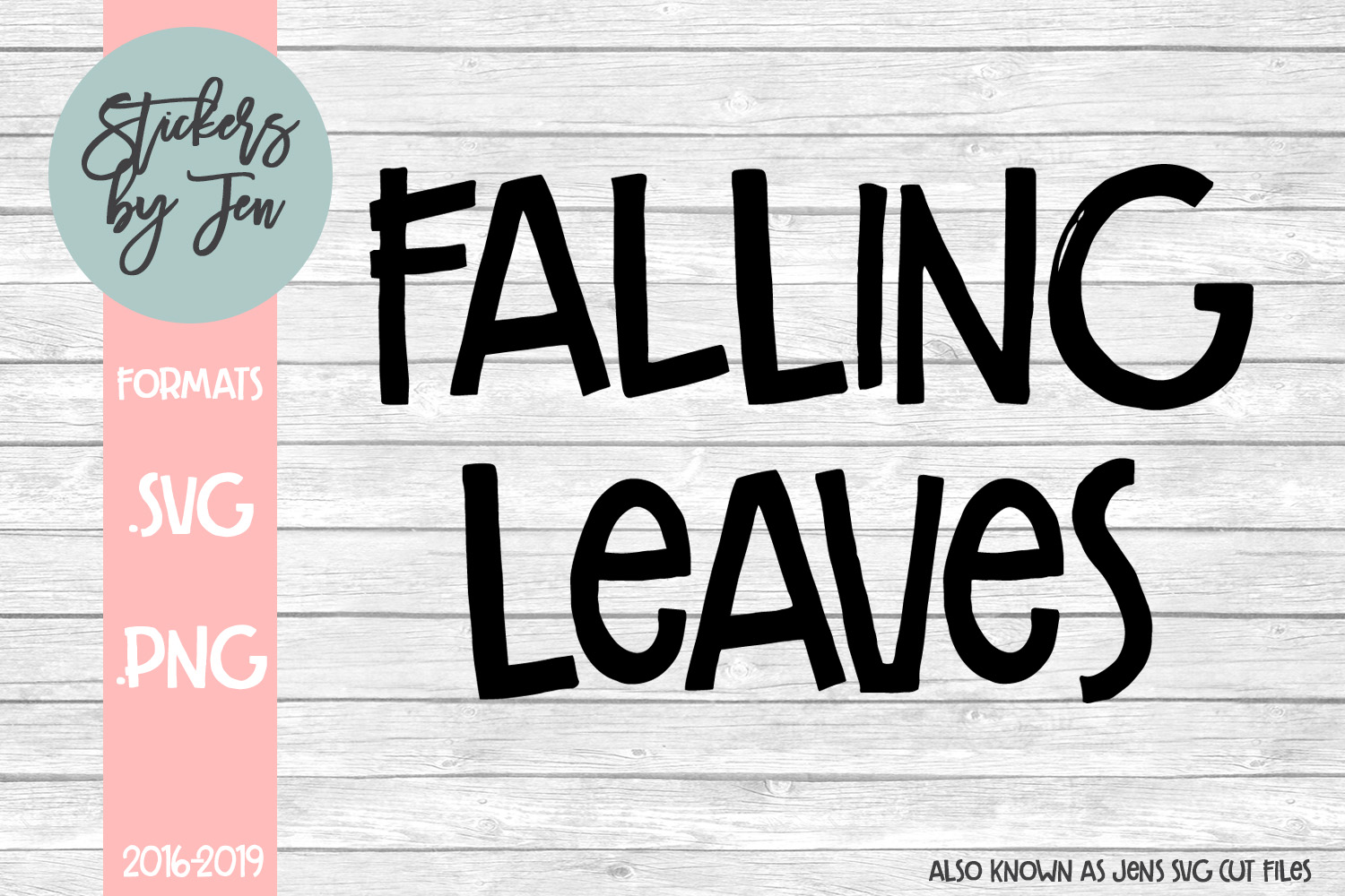 Download Free Falling Leaves Graphic By Stickers By Jennifer Creative Fabrica for Cricut Explore, Silhouette and other cutting machines.