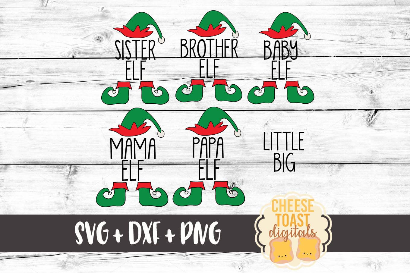 Download Free Family Elves Bundle Graphic By Cheesetoastdigitals Creative for Cricut Explore, Silhouette and other cutting machines.