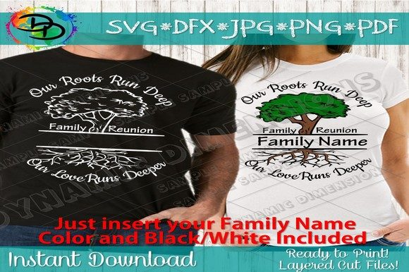 Print on Demand: Family Reunion Roots Run Deep Svg, Graphic Crafts By dynamicdimensions