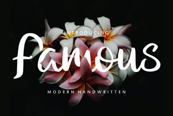 Print on Demand: Famous Script & Handwritten Font By Vunira