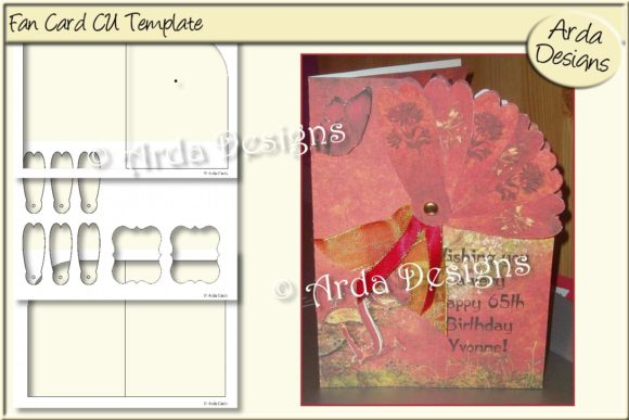 Print on Demand: Fan Card CU Template Graphic Print Templates By Arda Designs
