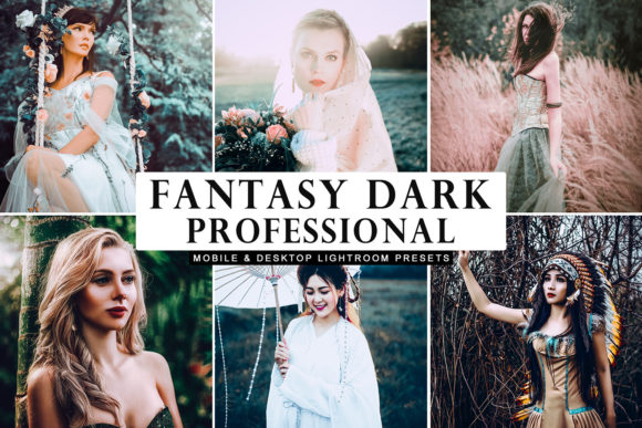 Print on Demand: Fantasy Dark Professional Presets Graphic Actions & Presets By Creative Tacos