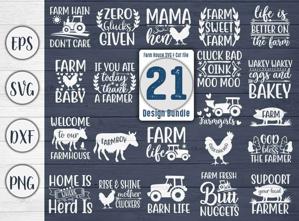 Download Free Farm House Bundle Cut File Graphic By Creativeart Creative Fabrica for Cricut Explore, Silhouette and other cutting machines.