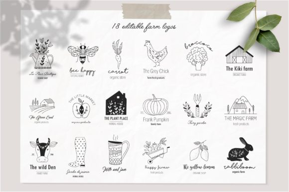 Farm Love Premade Logos Set Graphic Logos By Alisovna - Image 4