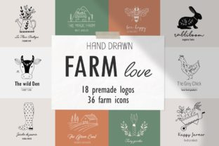 Farm Love Premade Logos Set Graphic By Alisovna