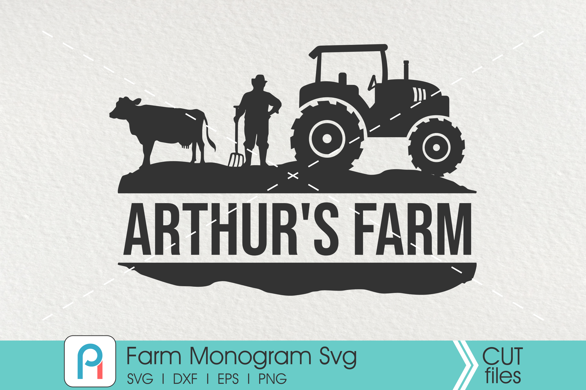 Download Free Farm Monogram Grafico Por Pinoyartkreatib Creative Fabrica for Cricut Explore, Silhouette and other cutting machines.