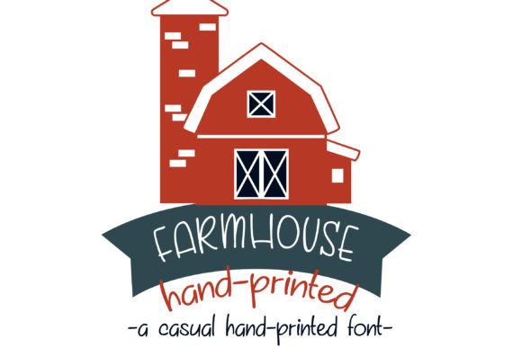 Print on Demand: Farmhouse Manuscrita Fuente Por Illustration Ink