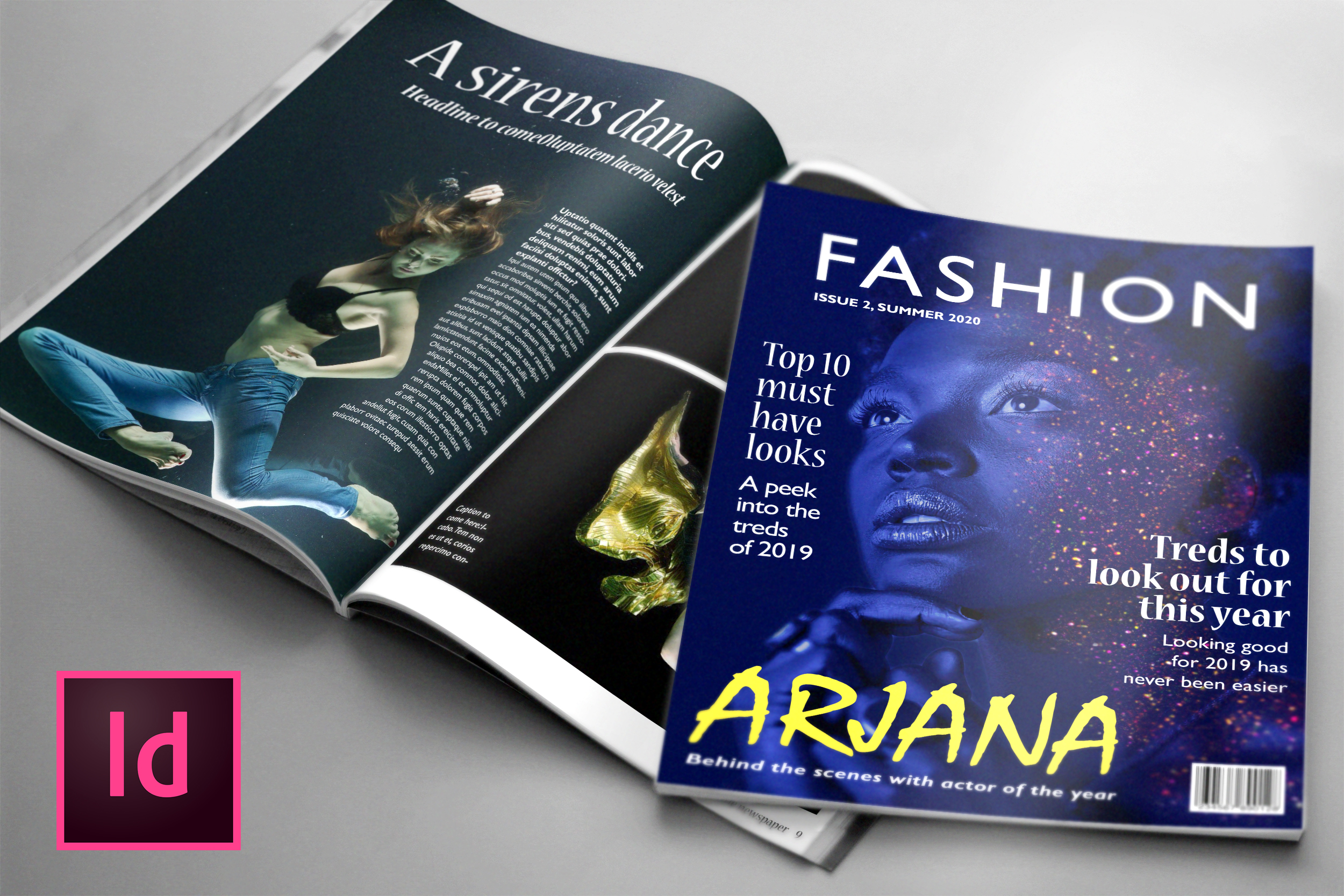 Download Free Fashion 24 Page Magazine Template Graphic By Denestudios for Cricut Explore, Silhouette and other cutting machines.