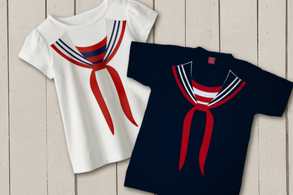 Faux Sailor Uniform Graphic Crafts By DesignedByGeeks