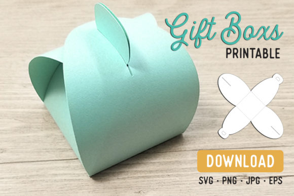 Print on Demand: Favor Box Cutfile Template Grafik Druck-Templates von The Gradient Fox