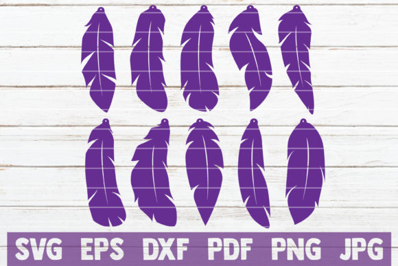 Download Free Feather Earrings Svg Bundle Graphic By Mintymarshmallows Creative Fabrica SVG Cut Files