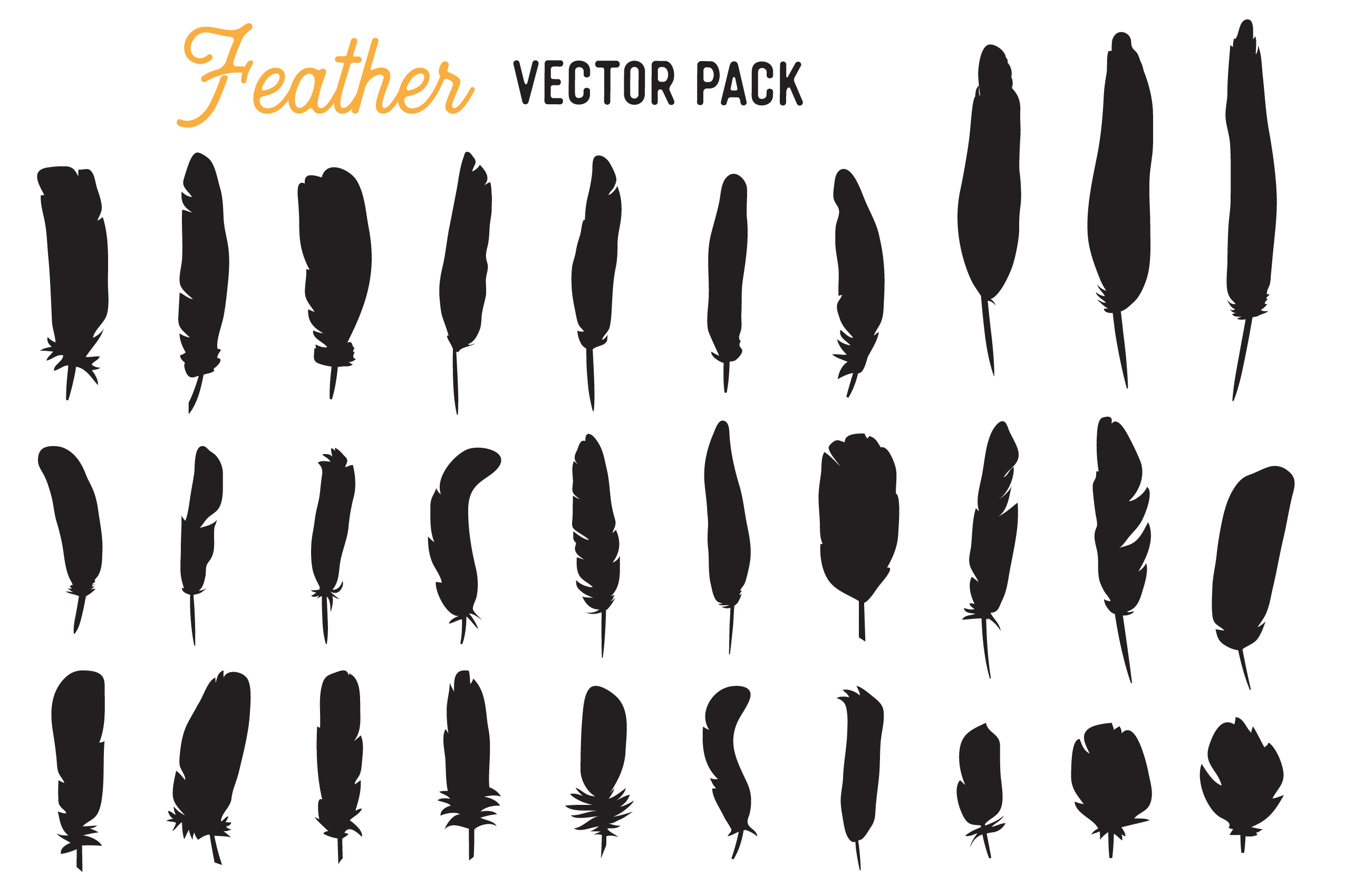 Download Free Feather Vector Clipart Pack Graphic By The Gradient Fox for Cricut Explore, Silhouette and other cutting machines.