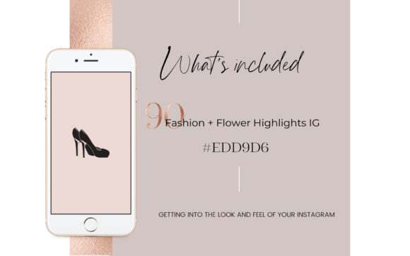 Feminine Highlights IG, Fashion + Flower Graphic Web Elements By Creative Stash - Image 2