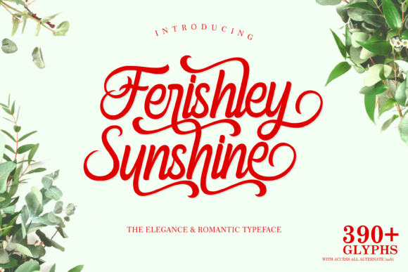 Print on Demand: Ferishley Sunshine Script & Handwritten Font By Holydie Studio - Image 1