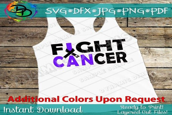 Download Free Fight Cancer Grafik Von Dynamicdimensions Creative Fabrica for Cricut Explore, Silhouette and other cutting machines.