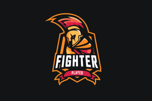 Print on Demand: Fighter E-Sports Logo Graphic Logos By ovoz.graphics