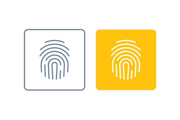 Fingerprint Line/Color Icon Graphic By DonMarciano
