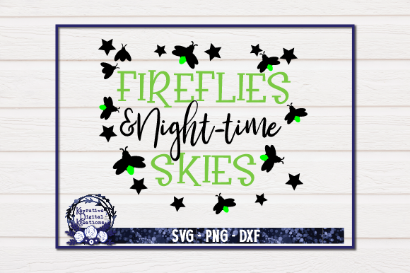 Download Free Fireflies Night Time Skies Graphic By Kayla Griffin Creative Fabrica for Cricut Explore, Silhouette and other cutting machines.