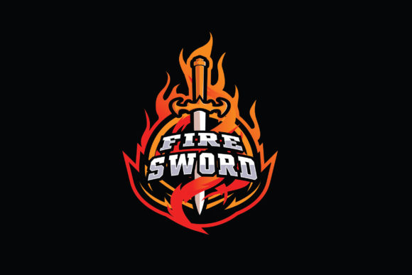Print on Demand: Firesword E-Sports Logo Graphic Logos By ovoz.graphics