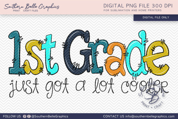First Grade Just Got Cooler Grafik Plotterdateien von Southern Belle Graphics