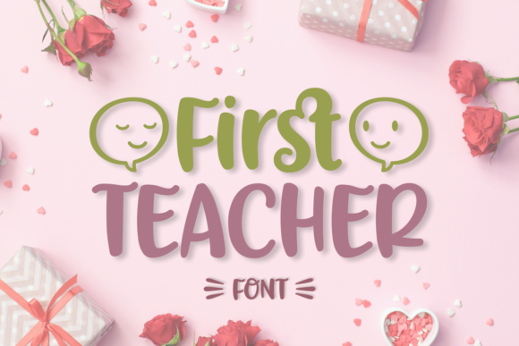 Print on Demand: First Teacher Script & Handwritten Font By Situjuh