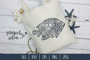 Fish Mandala Zentangle Graphic By SavoringSurprises