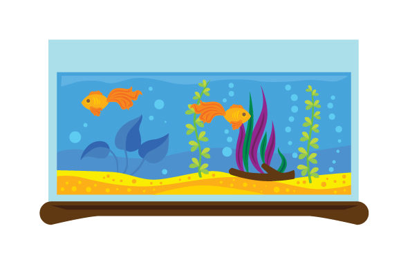 Fish Tank with Fishes Designs & Drawings Craft Cut File By Creative Fabrica Crafts