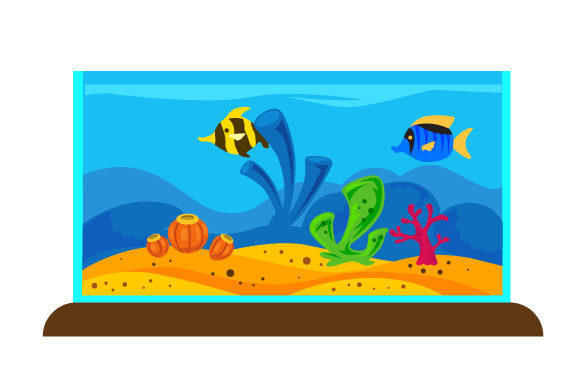 Download Free Fish Tank With Reef Decoration Svg Cut File By Creative Fabrica for Cricut Explore, Silhouette and other cutting machines.