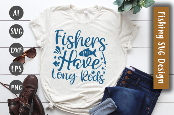 Print on Demand: Fisher's Have Long Rod SVG Design Graphic Crafts By CreativeArt