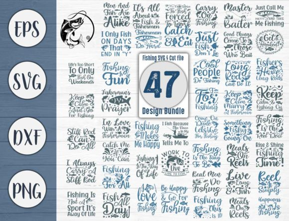 Download Free Fishing Bundle Cut File Graphic By Creativeart Creative Fabrica for Cricut Explore, Silhouette and other cutting machines.