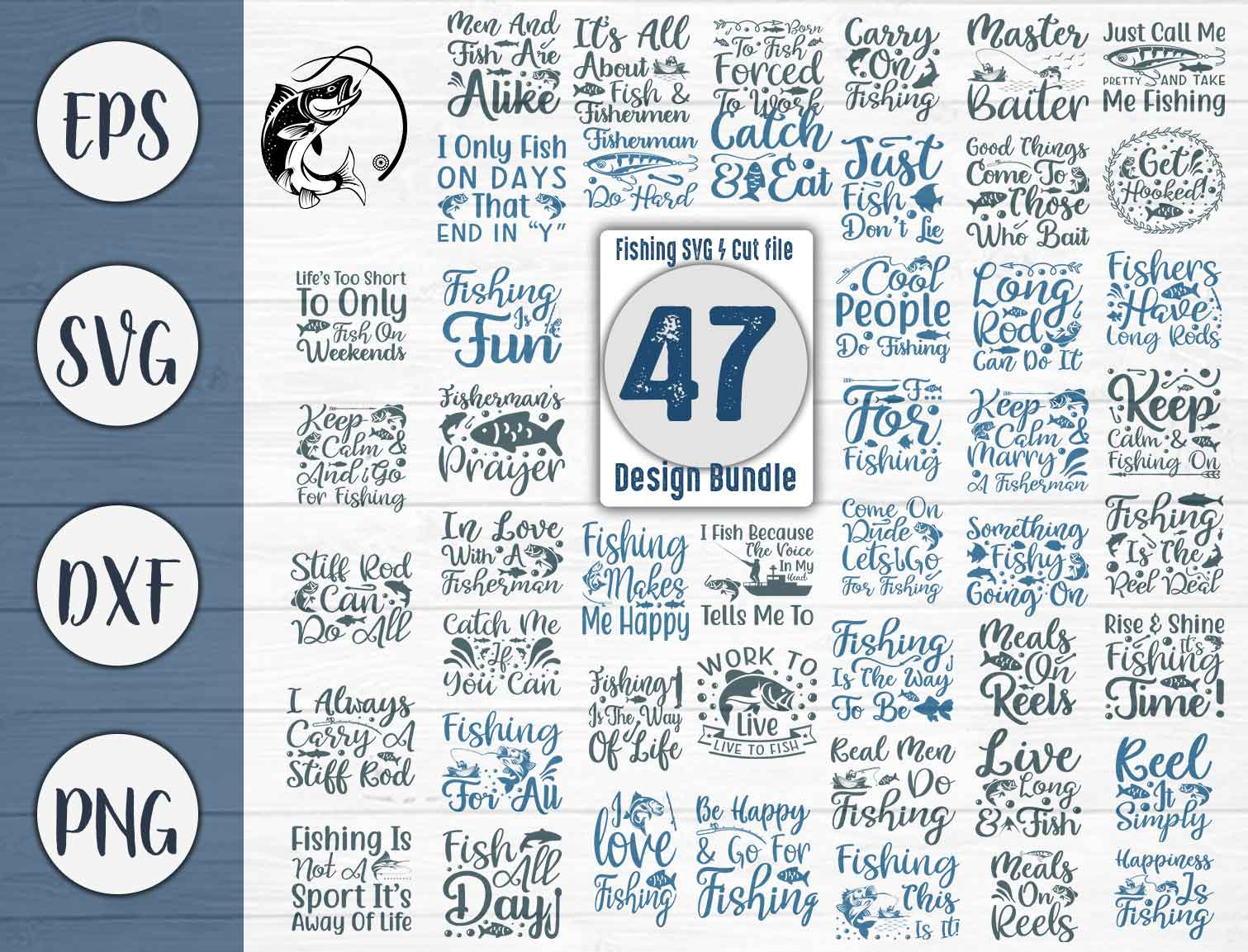 Download Free Fishing Bundle Cut File Graphic By Creativeart Creative Fabrica SVG Cut Files