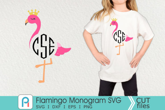 Flamingo Monogram Svg, Flamingo Svg Graphic Crafts By Pinoyartkreatib