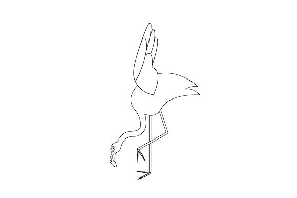 Download Free Flamingo Doing Yoga Poses Line Art Svg Cut File By Creative for Cricut Explore, Silhouette and other cutting machines.