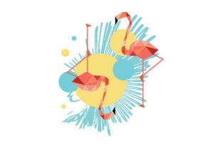 Flamingos Abstract Print Style Craft Design By Creative Fabrica Crafts