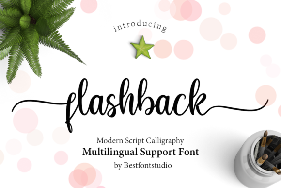 Print on Demand: Flashback Script & Handwritten Font By Best Font Studio - Image 1