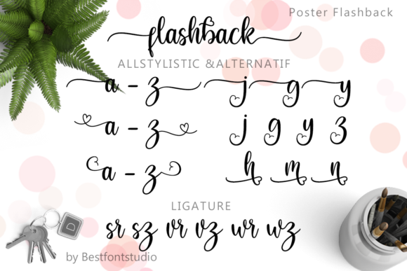 Print on Demand: Flashback Script & Handwritten Font By Best Font Studio - Image 9
