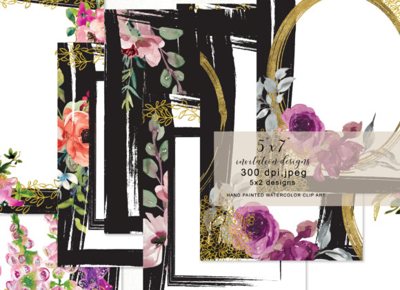 Floral 5x7 Invitation Design Collection Graphic By Patishop Art Image 3